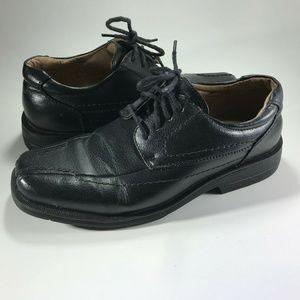 Dexter Men's Black Leather Dress Shoes Bicycle Toe